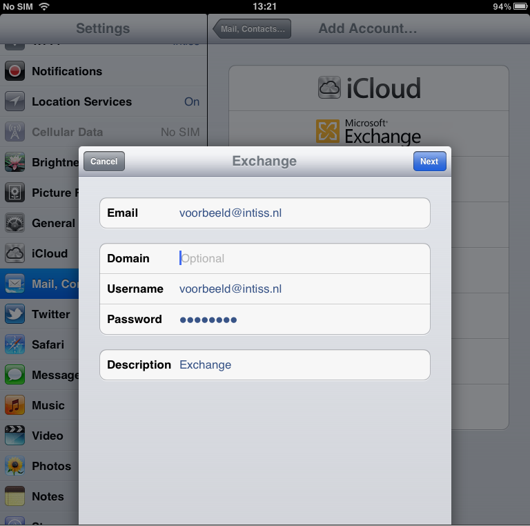 how to add a mailbox on ipad